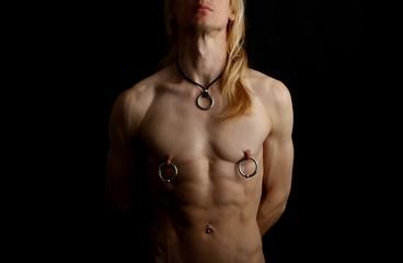 man with big piercings