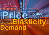 Price elasticity background concept glowing poster