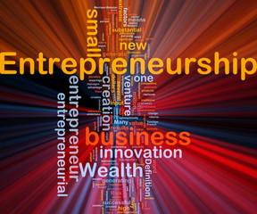 Business entrepreneurship background concept glowing