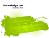 Green abstract paint splashes illustration. Vector