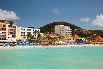 Beach at St. Maarten Island, Caribbean