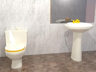Cuarto de baño renderizado