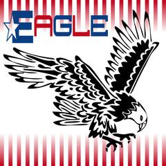 vector illustration tattoo (Eagle - graphic)
