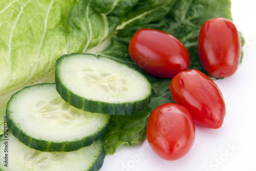 Cucumbers and Cherry Tomatoes