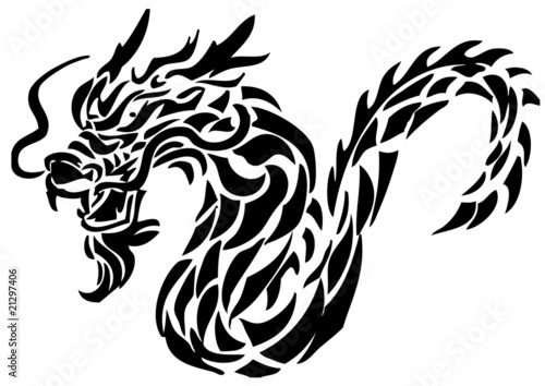 vector illustration dragon tattoo