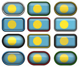 twelve buttons of the Flag of Palau poster