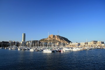 Inside of the Alicante harbour