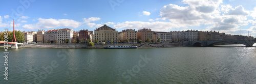 The river Saone, Lyon, France