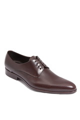 brown leather men shoe