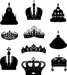 set of ten crowns
