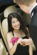 Teenage Girl Helped From Limo by Her Date