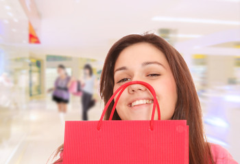 Girl in the shopping mall.