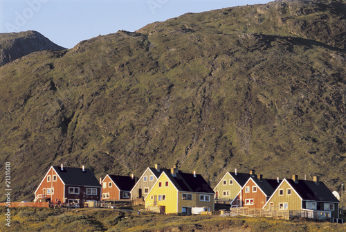 houses at base of hill