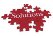 Solutions puzzle in red