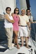 family smiling on sailboat (portrait)
