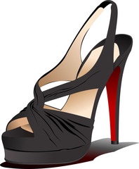 Fashion woman shoes. Vector illustration