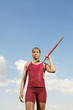 athlete with javelin half length