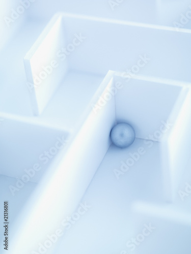 Small ball in maze