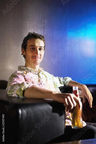 Man Enjoying a Beer