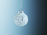 Christmas ornament hanging from string