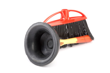 plunger and  brush isolated