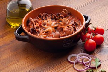 octopus in guazzetto typical venetian recipe