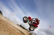 Quadbike jumping Oregon Dunes