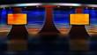 Virtual TV Studio News Set
