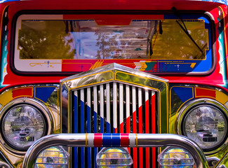 Filipino Jeepney Details with Classic Vintage Accents