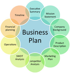 Business plan management diagram