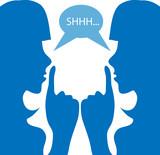 women said Girls secret Whisper shh silhouette