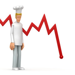 chef with red diagram