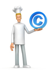 chef with copyright