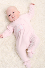 young baby on the floor