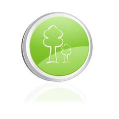 Ecology igon with trees, green collection