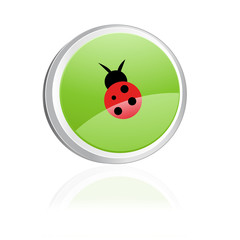 Ecology igon with ladybird, green collection