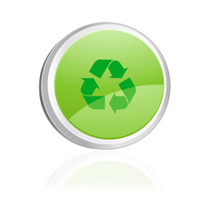 Ecology igon with recycle symbol, green collection
