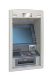 automated teller machine, ATM, isolated over white poster