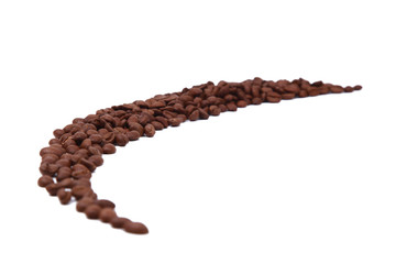 Strip of coffee beans