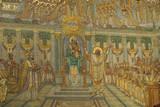 Mosaique dorée de Basilique de Fourvière à Lyon poster
