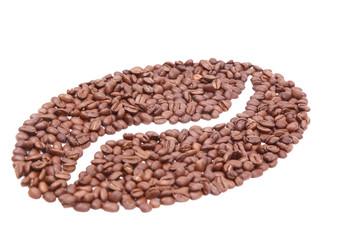 Coffee bean made of coffee beans