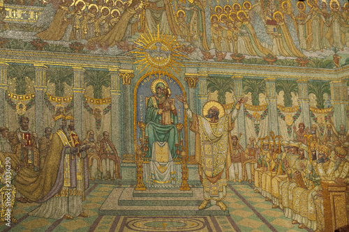 poster of Mosaique dorée de Basilique de Fourvière à Lyon
