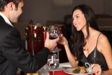 Fototapety Romantic couple having dinner