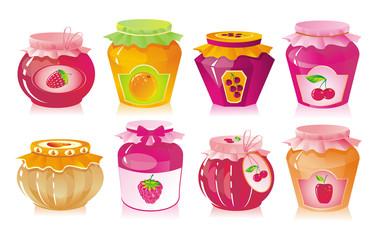 Jars with jam