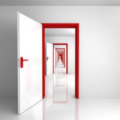Türen Rot