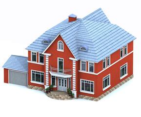 Das Modell des roten Hauses