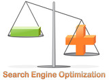 Concept for Search Engine Optimization, glossy icon poster