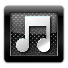 Music metallic icon