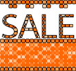 vector illustration of a mosaic sale background