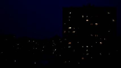 night in sleeping area